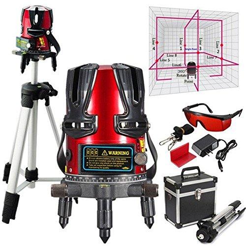 PhilMat 8 ligne kit niveaux laser nivellement de faisceau laser rotatif ligne de gradienter...