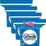 Cottonelle FreshFeel Flushable Wet Wipes, 4 Refill...