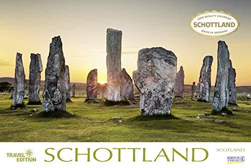 Schottland 2020: Großer Foto-Wandkalender mit Bildern aus Britannien. Travel Edition mit Jahres-Wandplaner. PhotoArt Panorama Querformat: 58x39 cm.