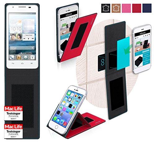 Hülle für Huawei Ascend G525 Tasche Cover Hülle Bumper | Rot | Testsieger