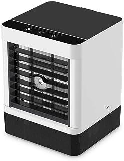 Sanvu扇風機、冷風機 ミニクーラー、卓上冷風機 冷風扇 ミニ冷却ファン、USBエアコンファン、節水、軽量、3速風量調整、防カビフィルター、省エネ、角度調整、ヒートストローク・ヒートストローク対策、日本語取扱説明書付き