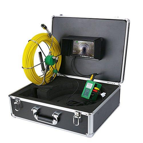 7 Pollici 20mm Pipeline Industrial Sewer Ispezione Fotocamera IP68 Impermeabile Dreation Detection Camera 1000 TVL Camera 6 Luci a LED (20m, 30m, 40m, 50m),20m