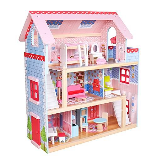Infantastic® Puppenhaus aus Holz mit LED - 3...