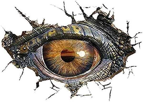 CHengQiSM Dinosaur Wall Sticker Tyrannosaurus Rex Wall Decals Children Room Decoration DIY Sticker Big Eye New