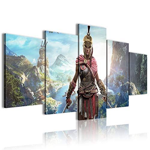 Póster impreso en lienzo de Kassandra Assassin's Creed Odyssey Heal the mood (200 x 100 cm)
