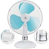 KESSER® - Tischventilator 30cm Ventilator mit 3-Leistungsstufen | Leise Betrieb | Oszillation ca....