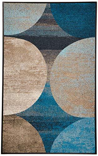 Wash + Dry Matte, Polyamide, Blau, 75 x 120 cm