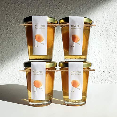 4 Mispelchen MISS PELL Mispel & Calvados   Das Frankfurter Kultgetränk genussfertig im Glas 4 x 50ml