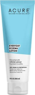 ACURE Everyday Eczema Lotion 100% Vegan for Sensitive & Easily Irritated Skin 2% Colloidal Oatmeal & Cocoa Butter, 8 Fl Ou...
