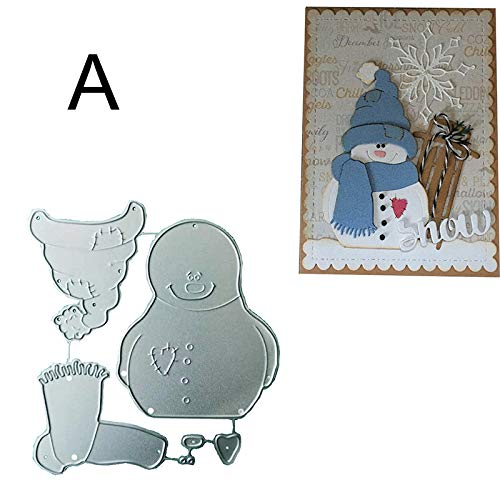 Tenrry Snowman Metal Cutting Dies Scrapbook Paper Craft Christmas Emboss Punch Stencil Mold