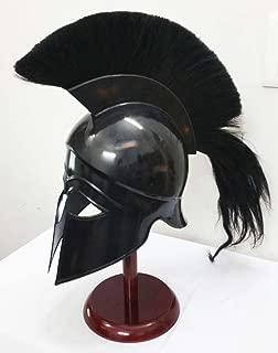 Greek Corinthian Helmet Ancient Medieval Armor Knight Spartan Replica Helmet with Black Plume