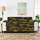 YSWPNA Classic Clothing Masking Camo T-Cushion Sofa Chair Slipcover Recliner The Sofa Cover 66' for 3 Seat Sofa Protect from Kids, Dogs and Pets