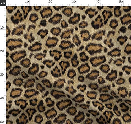 Leopard, Gepard, Tiger, Tierhaut, Stoff, Tapete Stoffe - Individuell Bedruckt von Spoonflower - Design von Willowlanetextiles Gedruckt auf Baumwollstoff Klassik