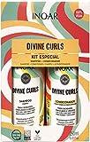 Inoar Kit Duo Shampoo e Condicionador Divine Curls Definição de Cachos 250ml, Inoar, Não, pacote de 2
