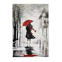 Namiha 雨の中で赤い傘の女の子 ジグソーパズル 300ピース 知育パズル 木製素材 キャラクター パズル アニメパターン 萌えグッズ 子供 初心者向け ギフト プレゼント