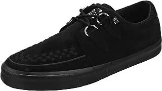 Hombres Mujeres Negro Imitación Ante D-Ring VLK Creeper Sneaker