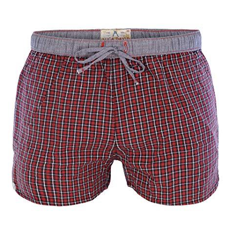 Luca David Olden Glory Damen Pyjama-Shorts mit Karo-Muster rot (2400-19110-42) Größe 42
