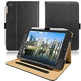 AIWOXING Custodia Compatibile iPad Mini 5 (2019 Modello 5a Generazione), iPad Mini 4 (2015 Modello 4a Generazione), Pelle PU Cover Case con Staffa, Slot Schede Documenti, Auto Svegliati/Sonno, Nero