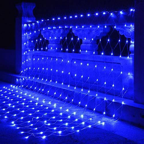 Solar Netz Außen 200 LED Pavillon Terrasse Beleuchtung mit Blinkfunktion 3m x 2m 8 Modi grünes Kabel Gartenbeleuchtung Solarlichterkette Außenlichterkette
