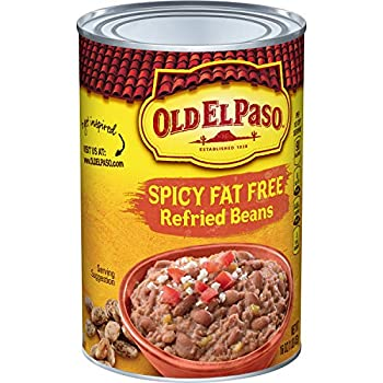 Old El Paso Spicy Fat Free Refried Beans 16 oz  Pack of 12