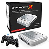 DIKDOC Video Game Console Emulator Console Arcade Emulator Kids Retro Game Console Pre-Install 41,000 Games ROM HDMI Output 128G Mini Portable Support NES/N64/PS1/Sega Console
