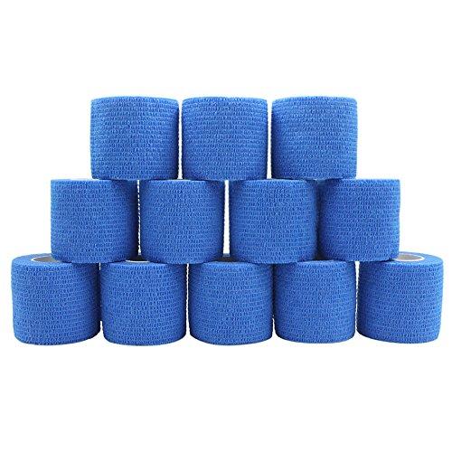 COMOmed selbstklebender verband elastische binde handgelenk bandage pflaster rolle Dog Bandagen Tierische Bandagen Blau 5 cm X 12 Bände