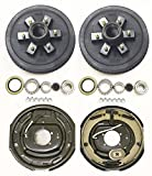 LIBRA Trailer 6 on 5.5' B.C. Hub Drum Kits with 12'x2' Electric Brakes for 5200-6000 Lbs Axle