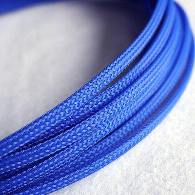 10m 4mm, geflochten, erweiterbar sleeving Haustier mit Flexable Paracord mit sleeving-blue