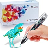 3D Printing Pen 4.0 Version - Non-Toxic - Won't Clog - One Button Operation Comes w/ 4 Drawing Templates +3 PLA Filament +1 Small Shovel + 1 Transparent Sheet