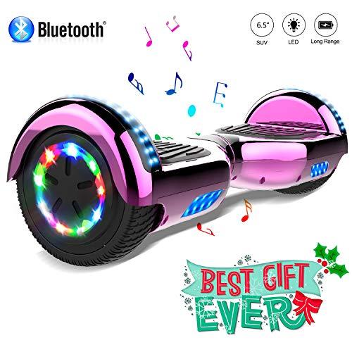 COLORWAY Hoverboard 6.5'' Smart Scooter Auto Bilanciamento Bluetooth elettrico e LED Multicolor E-Skateboard Auto Balance