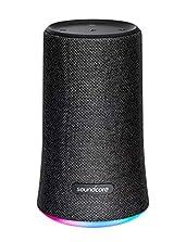 Soundcore Flare Tragbarer Bluetooth Lautsprecher von Anker, 360° Rundum-Sound, Fantastischer Bass & Stimmungs-LED-Licht, IPX7 wasserdichte, 12 Stunden Spielzeit für Feiern & Partys (Schwarz)©Amazon