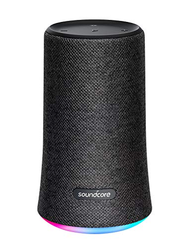 Soundcore Flare Wireless Speaker by Anker, Waterproof Party Speaker with 360° Sound, Enhanced Bass & Ambient LED Light, IP67 Waterproof and 12-Hour Battery Life-Black