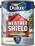 Dulux Weather Shield Smooth Masonry Paint, 5 L - Classic Cream