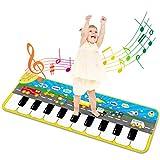 RenFox Alfombra Piano de Suelo Alfombra Musical de Teclado Alfombrilla Musical Tapete Baile Estera Piano Mat Touch Juego Regalo Juguete para Niños Bebe 120 x 39 cm