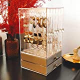 ZHANG Clear Acrylic Jewellery Box,Holes Jewellery Box Earrings Jewellery Rings Bracelets Display Stand Jewellery Stand Jewellery Organizer-A