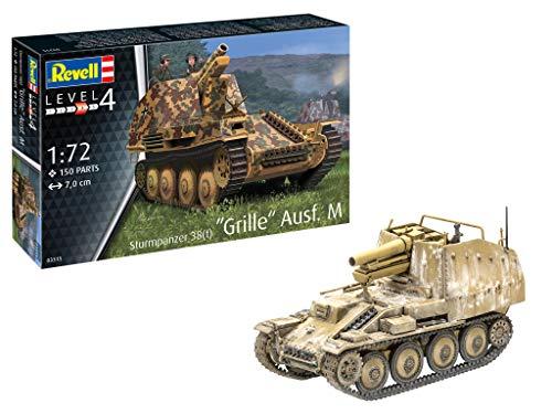 Revell 03315 Sturmpanzer 38(t) Grille AUSF. M originalgetreuer Modellbausatz für Fortgeschrittene, unlackiert