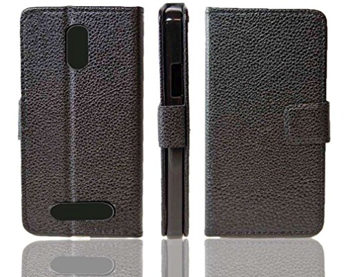 caseroxx Handy Hülle Tasche kompatibel mit Archos 45 Neon Bookstyle-Hülle Wallet Hülle in schwarz
