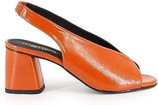 Luxury Fashion   Momoní Women TRIFOGLIO69 Orange Leather Sandals   Spring-summer 20