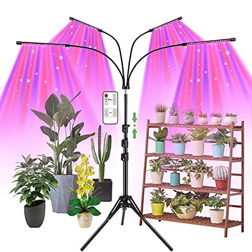 Grow Light with Stand, AMBOR Floor Grow Lights for Indoor...