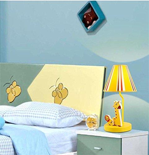 éclairage de bande dessinée Table simple étude d'étude des enfants de la lampe pastorale mignonne d'éclairage moderne et créative animale LED de chevet