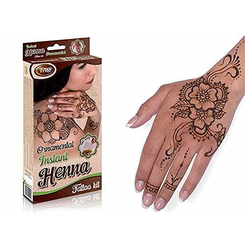 TyToo Set di decorazioni per henné naturale