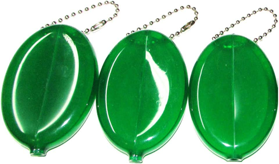 3 Green Coin Purses - Made in USA