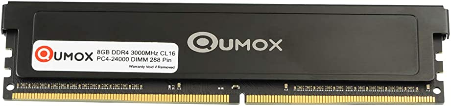 QUMOX 8GB DDR4 3000 3000 MHz PC4-24000 PC-24000 (288 PIN) MEMORIA DIMM
