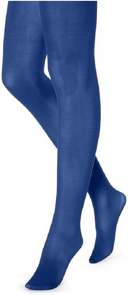 Hue Women's Opaque Tights Non Control Top 2 Blue Print