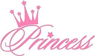 UR Impressions Pnk Princess Crown Decal Vinyl Sticker Graphics for Cars Trucks SUV Vans Walls Windows Laptop Pink 5.6 X 3....