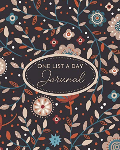 One List A Day Journal: Memory Notebook With One Question A Day For 3 Years