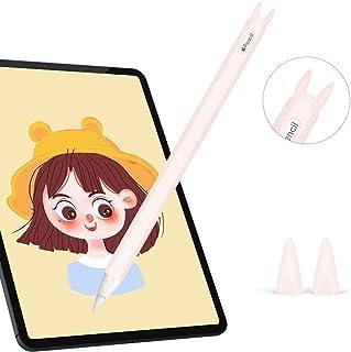 Hydream Funda de Silicona para Apple Pencil 2ª Generación, Funda Ultra Delgada Protectora Case Cover Antideslizante Accesorios para iPad Pencil, con 2 Cubiertas de Punta Protectora (Rosa)