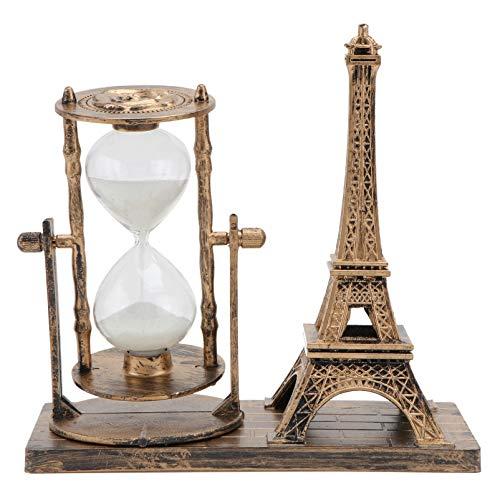 VOSAREA Decoración Retro de La Torre Eiffel del Reloj de Arena de 1Pc Ornamento del Temporizador de Cristal de La Arena