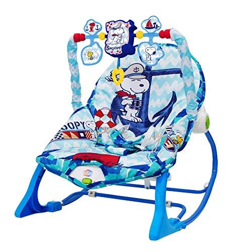 Snoopy - Cadeira De Balanço Azul Pura Diversão Multicolorido