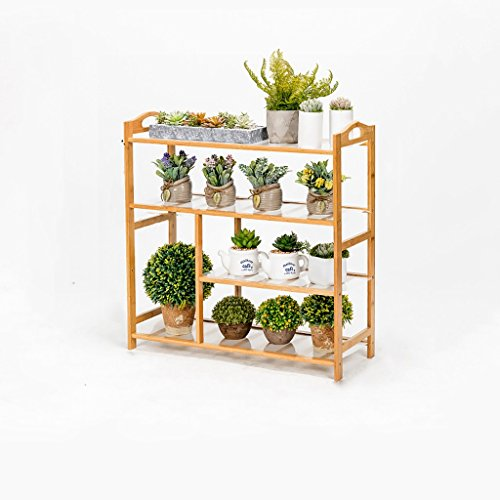 MLHJ NNIU- Multifonctionnel Balcon Fleur Racks Solide Bois Salon Pots De Fleurs Simple Multi-étages Étagère De Fleur (Taille : 70 * 26 * 68cm)